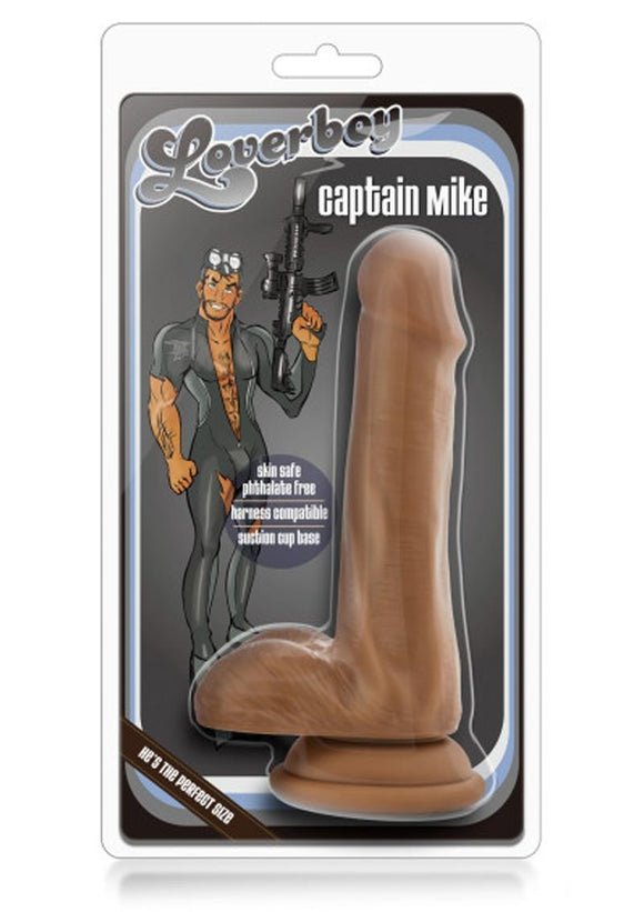 Loverboy Captain Mike Realistic Dildo Mocha 6.5 Inch
