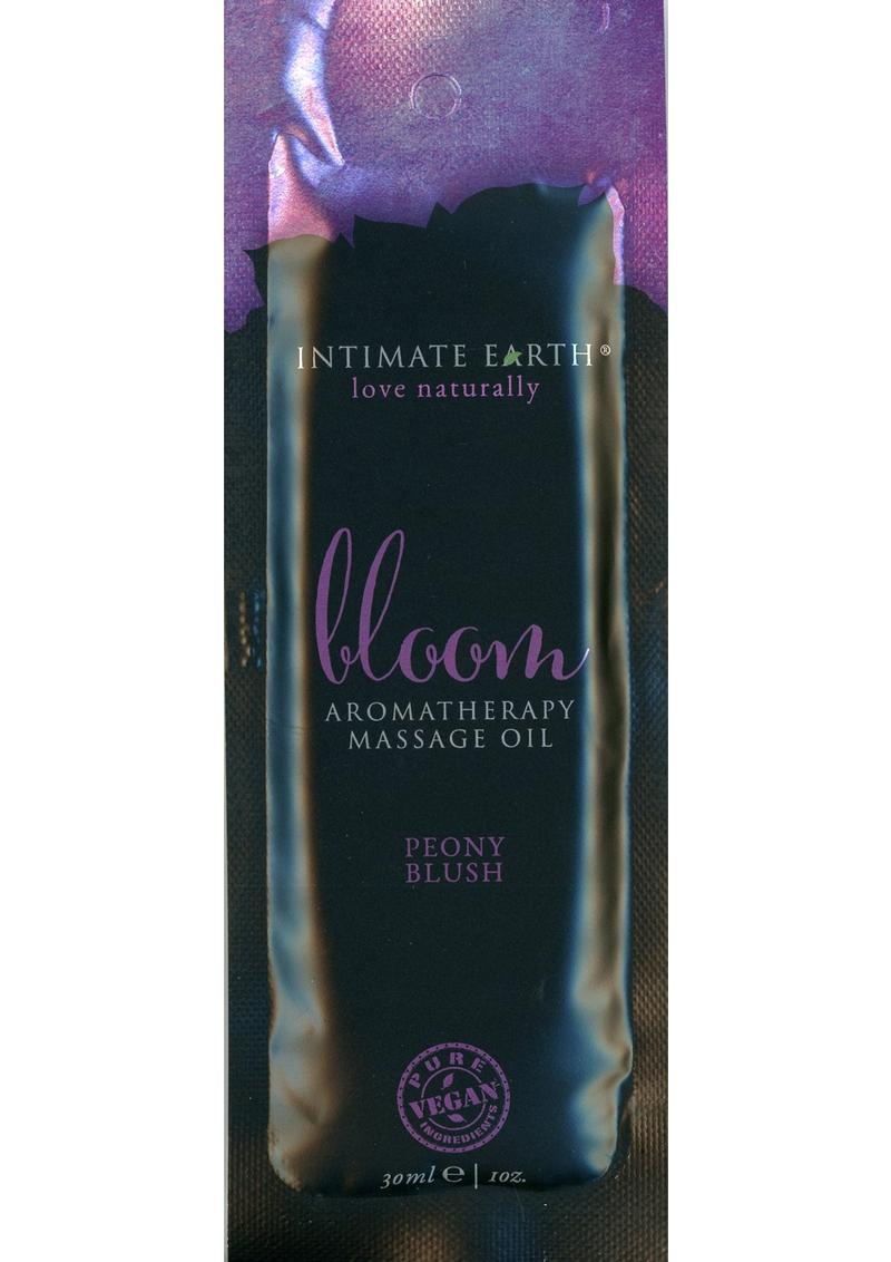 Intimate Earth Bloom Aromatherapy Massage Oil Peony Blush Foil Pack 1 Ounce