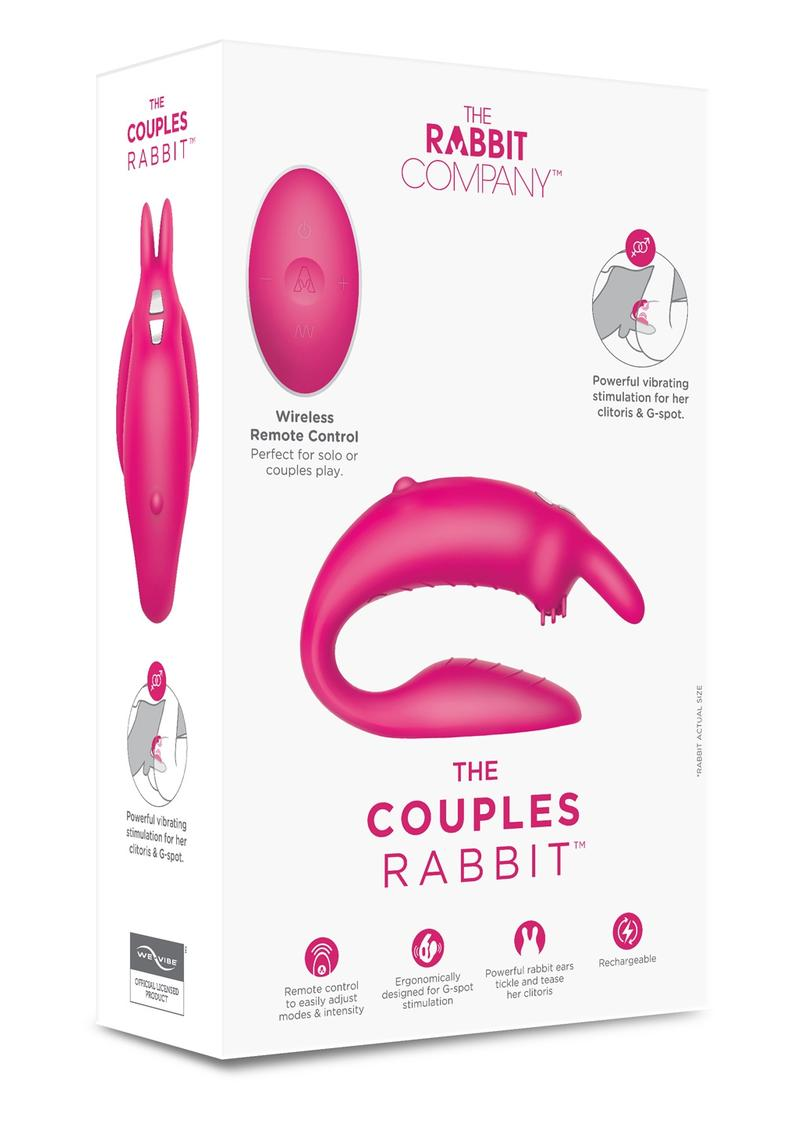 The Rabbit Company The Couples Rabbit Silicone Pink