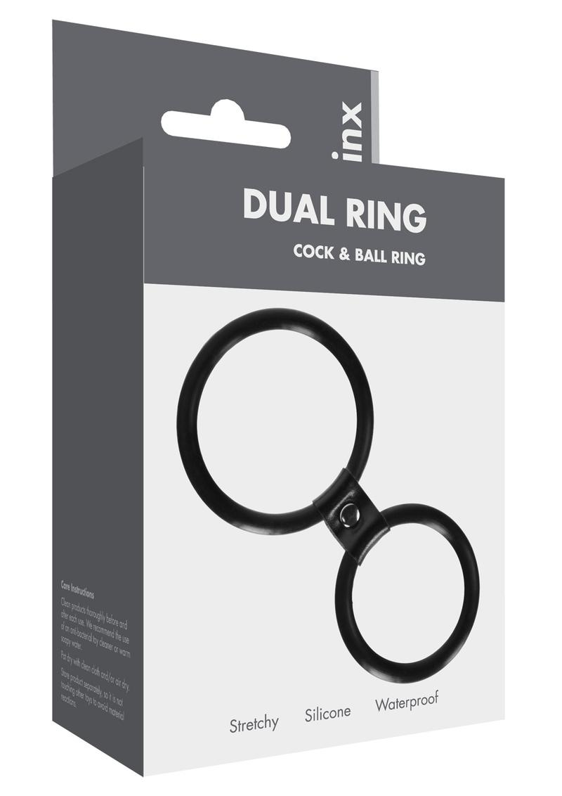 Linx Dual Ring Cock Ring Silicone Waterproof Black