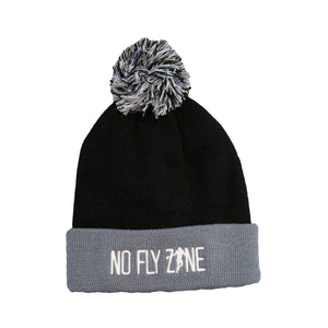 NEW NFZ Beanie with Pom - Black/Grey