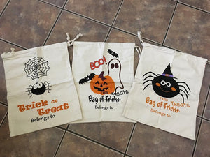 Canvas Halloween Bags