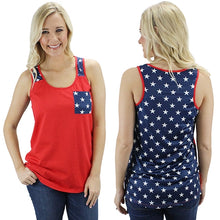 4th of July Stars Tank top with Pocket