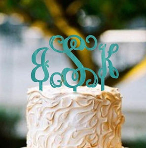 Cake Topper Monogram Wooden Unfinished Uppercase Alphabet Letter