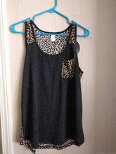 Leopard Tank Top with Pocket