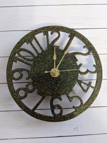Mulit Color Glitter Clock
