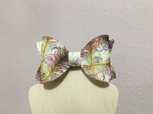 Peacock Feather Hair Bows
