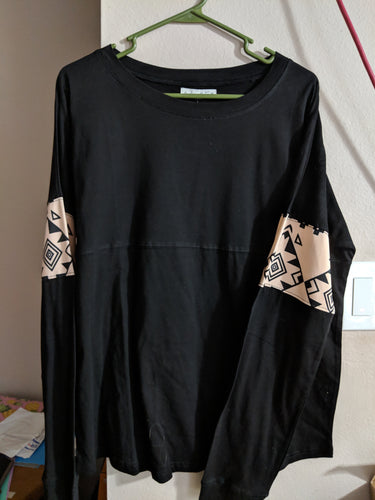 Aztec Print Long Sleeve Top