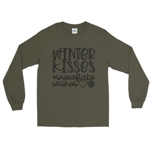 Winter Kisses & Snowflake Wishes - Long Sleeve T-Shirt