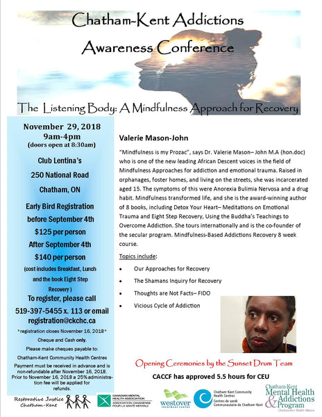 Chatham-Kent Addictions Awareness Conference poster