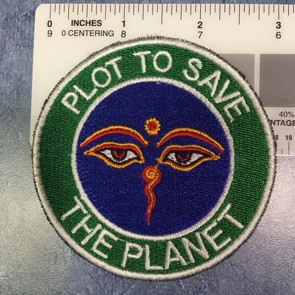 Plot to Save the Planet badge with large donation