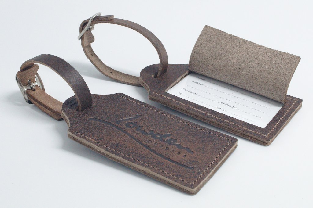 Leather Guitar Strap & Luggage Tag Bundle