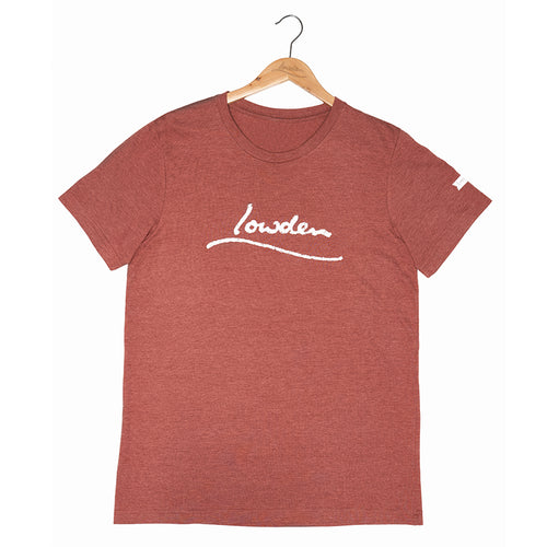 Distressed Logo T-shirt Unisex - Heather Clay
