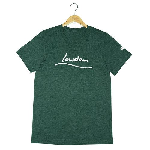 Distressed Logo T-shirt Unisex - Heather Forest