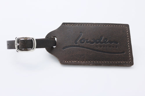 Embossed Leather Luggage Tag