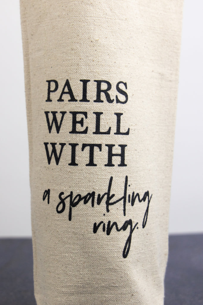 Pairs Well With a Sparkling Ring Wine Bag
