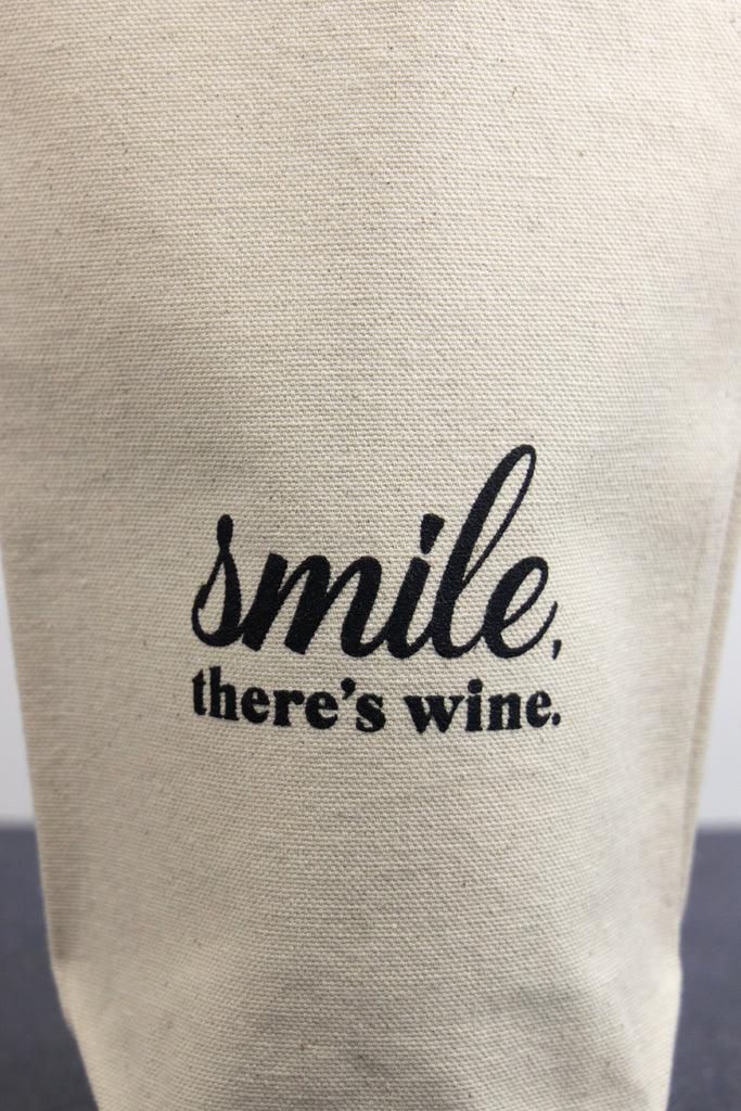 Smile, There's Wine - Wine Bag