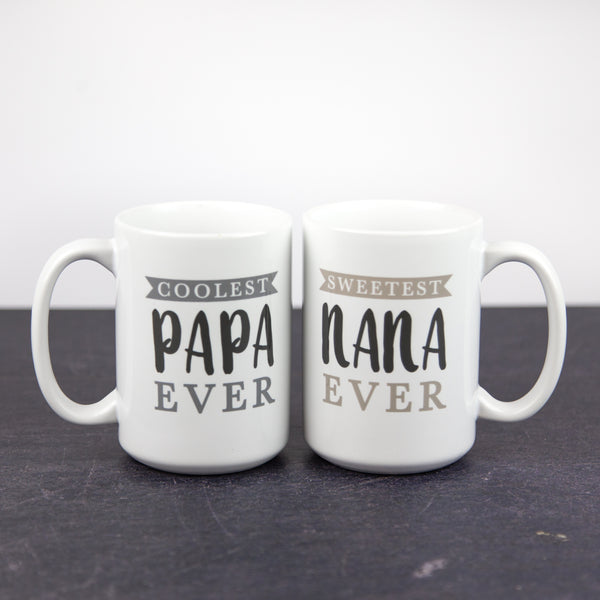 Nana and Papa Mug Set | 15oz Coffee Mugs
