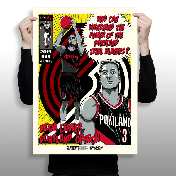 Portland Trailblazers x Phenom Gallery Limited Edition NBA Playoff Gameday Art