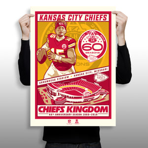 Phenom Gallery Releases its First Limited-Edition Kansas City Chiefs Print: A 2019 Season Silkscreen by Stolitron