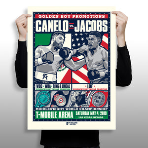 Golden Boy x Phenom Gallery x Fanatics Release Limited Edition Alvarez vs Jacobs Fine Art Print