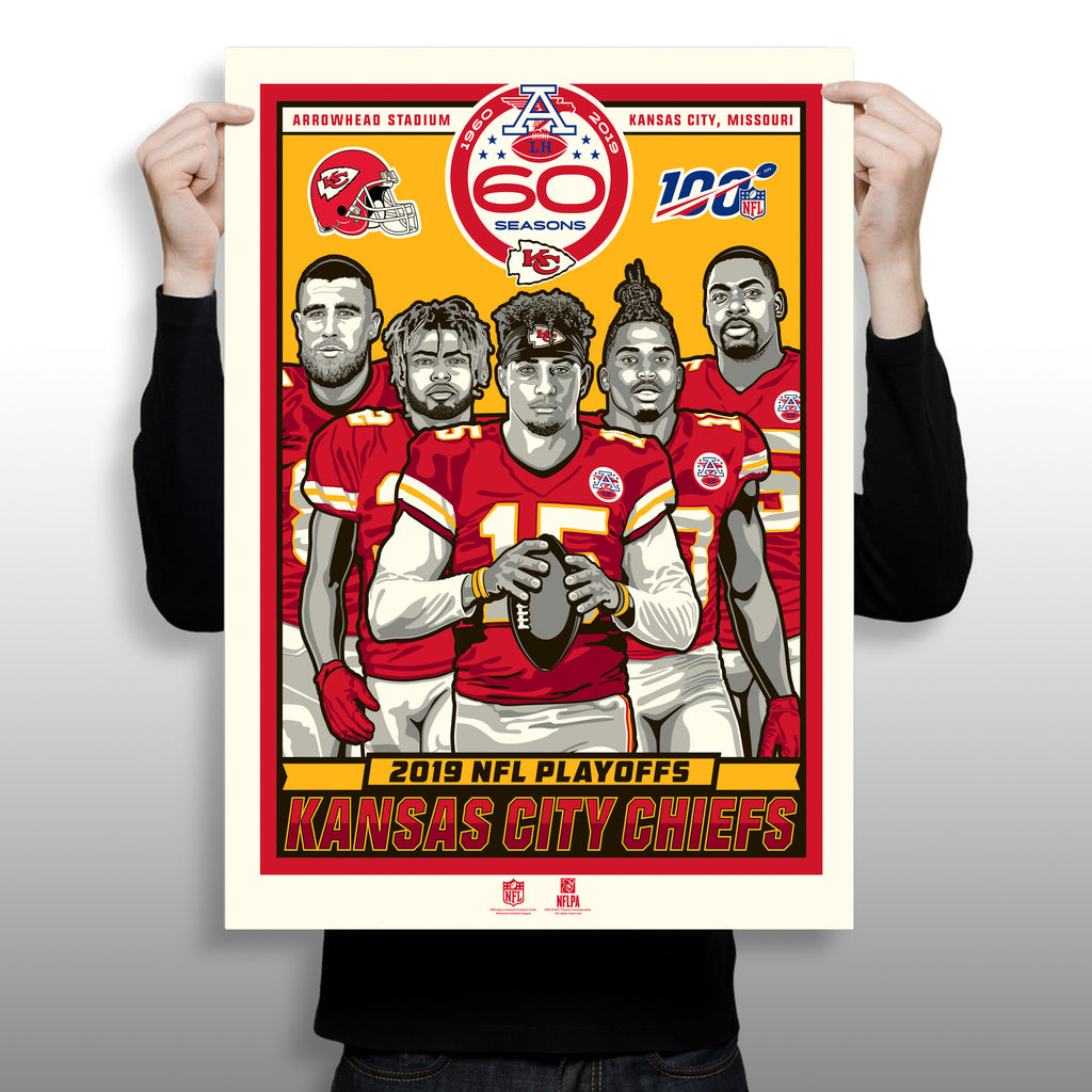 Phenom Gallery Releases Kansas City Chiefs Artwork Celebrating Players Taking Team to 2019 Postseason