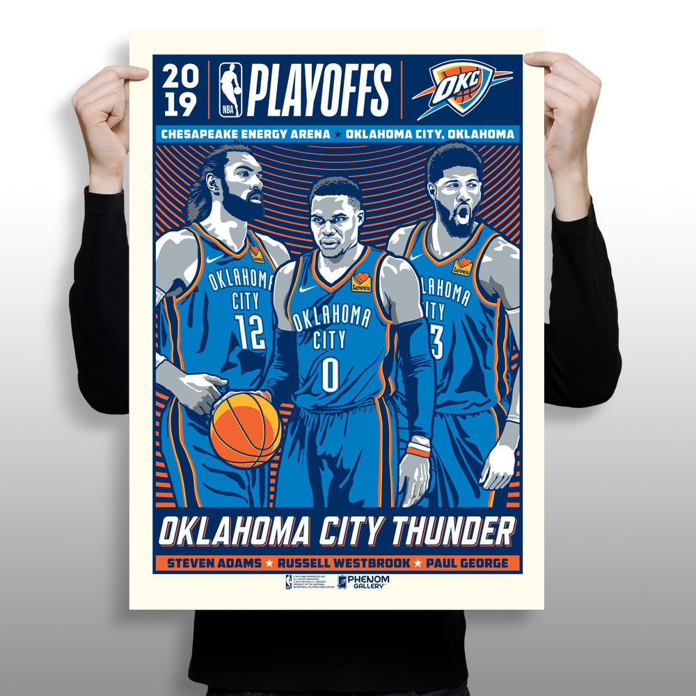 Oklahoma City Thunder x Phenom Gallery Limited Edition NBA Playoff Gameday Art