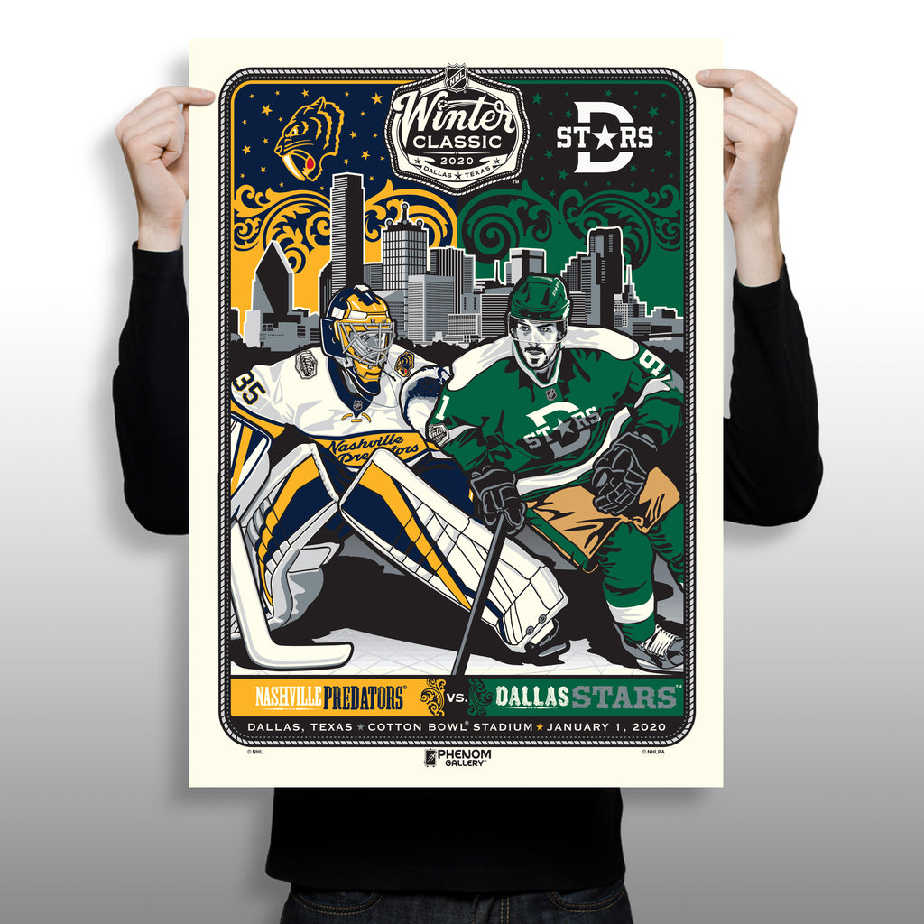 Phenom Gallery Launches National Hockey League Winter Classic Print Exclusive at the Cotton Bowl in Dallas Texas