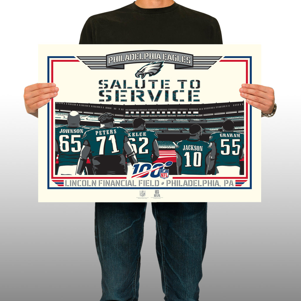 Philadelphia Eagles Releases Phenom Gallery Print: Limited-Edition Military Appreciation Serigraph