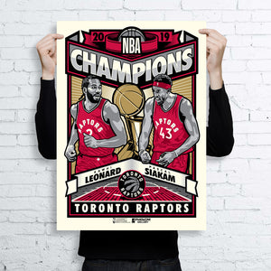 Phenom Gallery x NBA x Think450 Release Limited Edition Toronto Raptors World Champions Fine Art Print