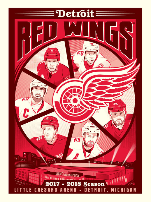 Phenom Gallery Launches Dave Perillo serigraph with the Detroit Red Wings