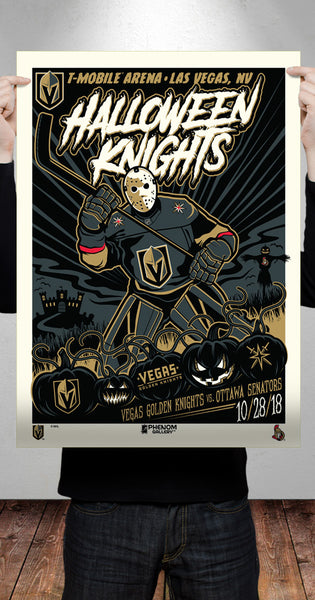 Halloween Phenom Gallery Serigraph Launches for Vegas Golden Knights