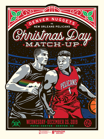 Denver Nuggets 2019 X-Mas Game Serigraph (Printer Proof)