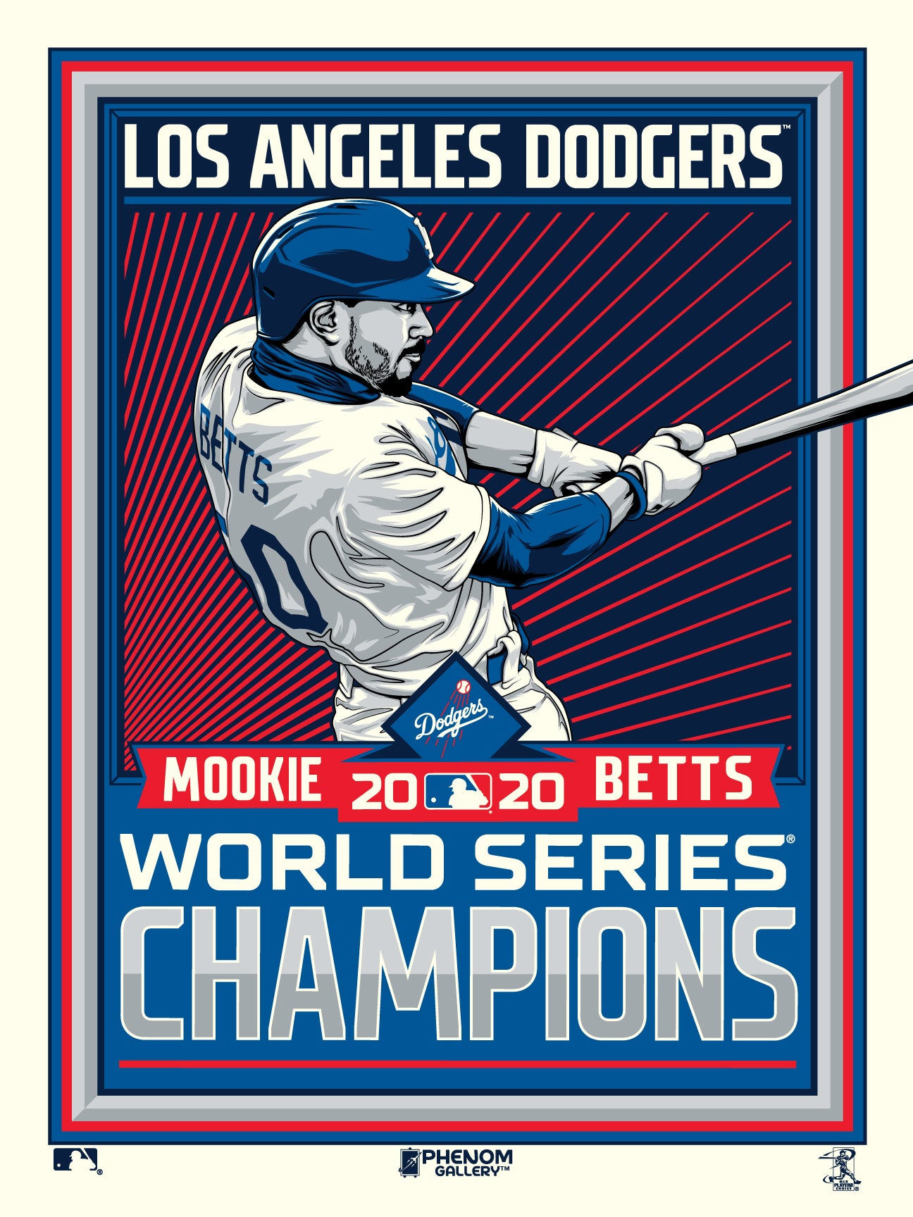 Los Angeles Dodgers Mookie Betts 2020 World Series Champs Print