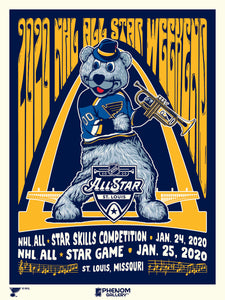 "National Hockey League 2020 All Star Game 18"" x 24"" Serigraph Print (Printer Proof)"