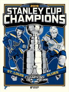 St. Louis Blues 2019 Stanley Cup Champions Limited Edition Serigraph- Presell Ships June 15th
