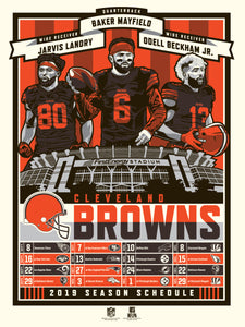 Cleveland Browns 2019 Season Serigraph (Printer Proof)