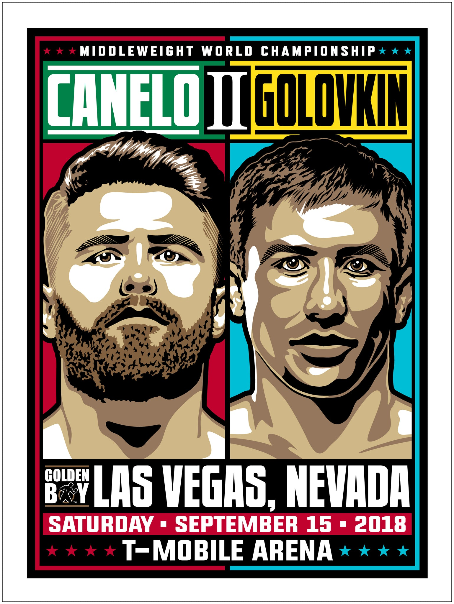 Canelo vs GGG 2 Middleweight Championship Serigraph- Presell Ships June 15th
