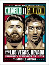 Canelo vs GGG 2 Middleweight Championship Limited Edition Serigraph (Printer Proof Edition)