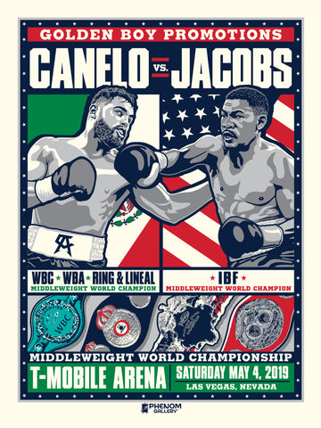 Canelo vs Jacobs Middleweight Championship Serigraph (Printer Proof)
