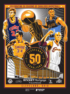 Cleveland Cavaliers 50th Anniversary Serigraph (Printer Proof)