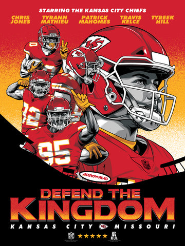Kansas City Chiefs Defend The Kingdom Movie Poster Serigraph