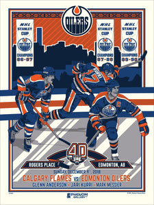 Edmonton Oilers 40th Anniversary 2 of 4 Serigraph  (Printer Proof)