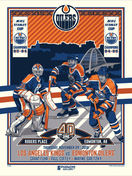 Edmonton Oilers™ 40th Anniversary 1 of 4 Serigraph (Printer Proof)