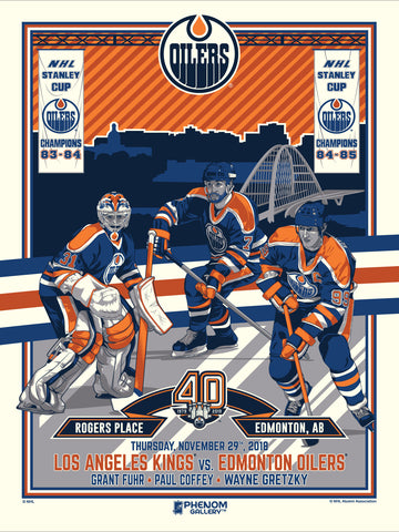 Edmonton Oilers 40th Anniversary 1 of 4 Serigraph (Printer Proof)