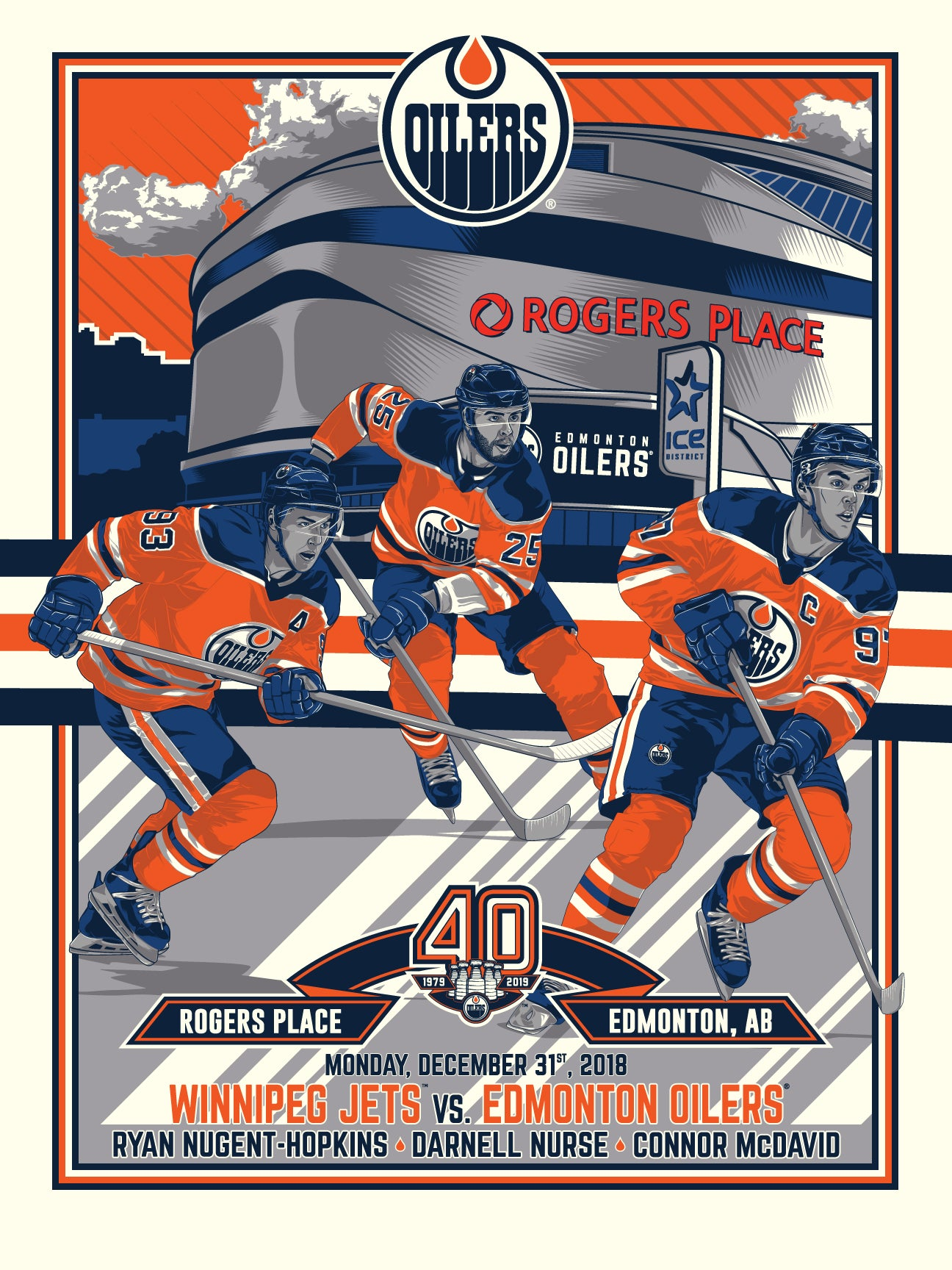 Edmonton Oilers 40th Anniversary 3 of 4 Serigraph (Printer Proof)