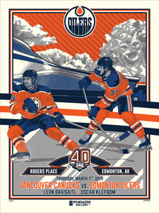 Edmonton Oilers 40th Anniversary 4 of 4 Serigraph (Printer Proof)