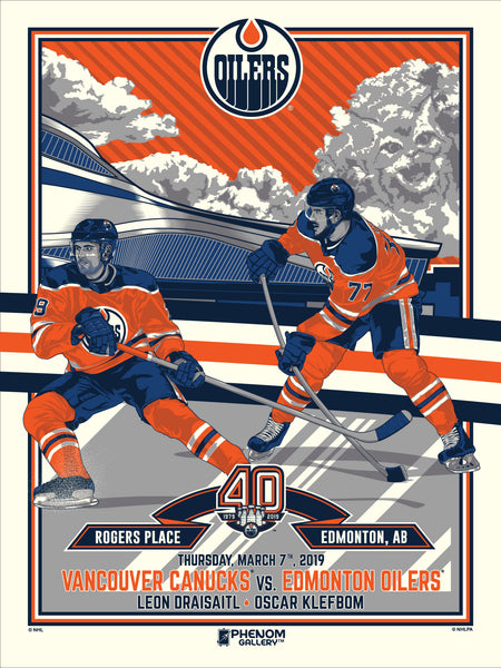 Edmonton Oilers™ 40th Anniversary 4 of 4 M. Fitz Serigraph (Printer Proof)