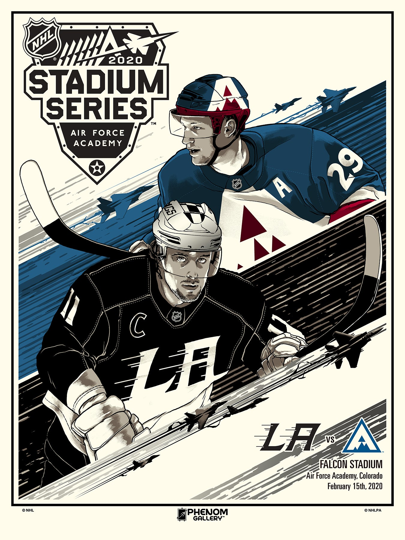 NHL Winter Classic 2020 - Avalanche vs Kings Serigraph (Printer Proof)