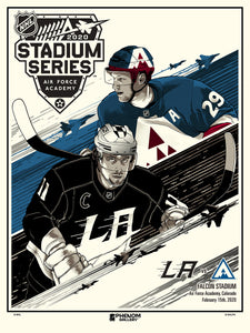 NHL Winter Classic 2020 - Avalanche vs Kings Serigraph- Presell Ships June 15th